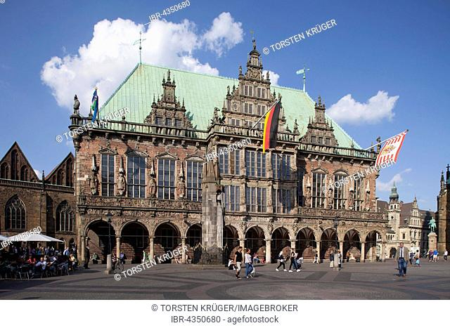 Old Town Hall and Market Place, Bremen, Germany