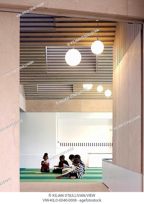 Nursery Classroom Interior And Students Whitehorse Manor Junior School At Pegaus Academy Thornton Heath United Kingdom Architect Hayhurst Co