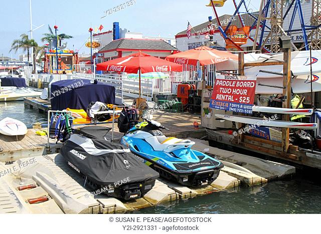 Paddle board rentals, Balboa Peninsula, Newport Beach, Orange County, California, United States