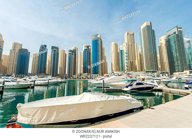 Dubai - JANUARY 10, 2015: Marina district on January 10 in UAE