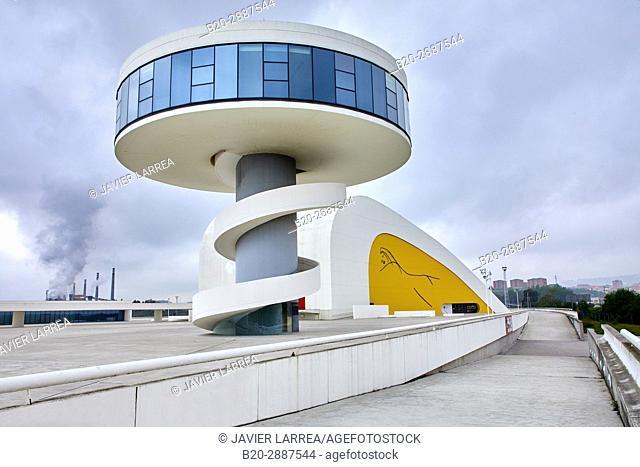 Oscar Niemeyer International Cultural Centre. Avilés, Asturias, Spain, Europe