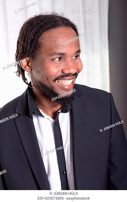 portrait of an african musician