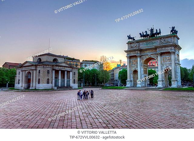 Italy, Lombardy, Milan, Arco della Pace