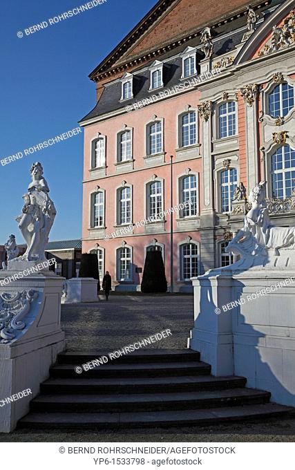 Palace of Trier with sculptures,Trier, Germany