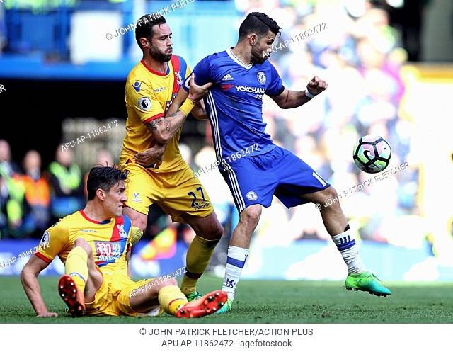2017 Premier League football Chelsea v Crystal Palace Apr 1st. April 1st 2017, Stamford Bridge, London, England; EPL Premiership football