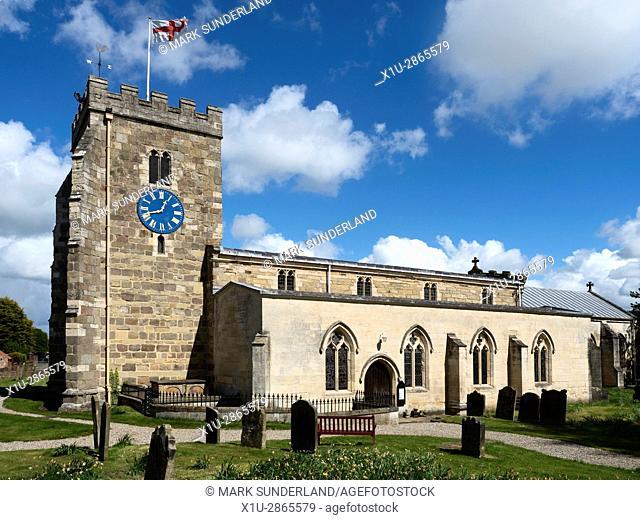 Church of St Andrew at Aldborough near Boroughbridge North Yorkshire England