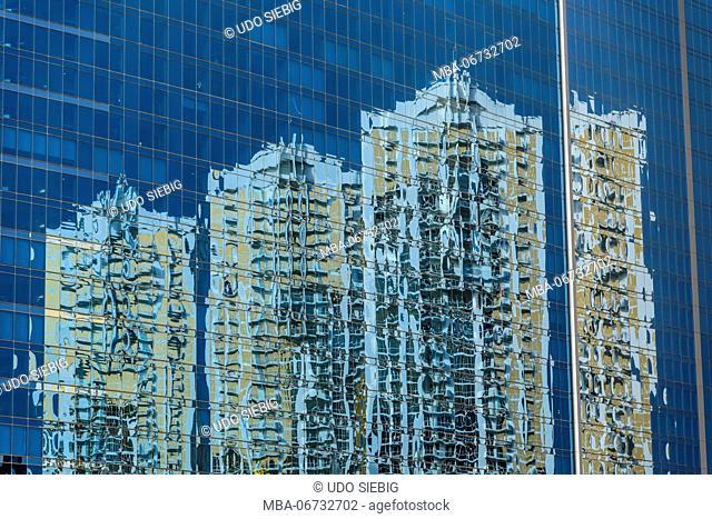 The USA, Nevada, Clark County, Las Vegas, East Harmon Avenue, high rise facade