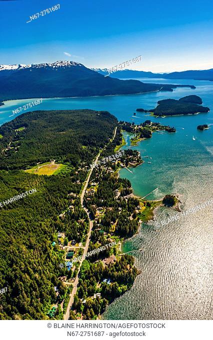 Aerial View, Auke Bay, Juneau, Alaska USA