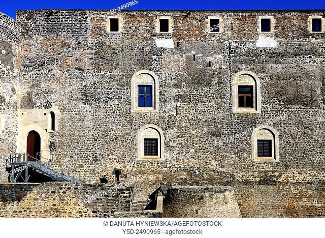 Europe, Italy, Sicily, Catania, Castello Ursino, Piazza Federico di Svevia