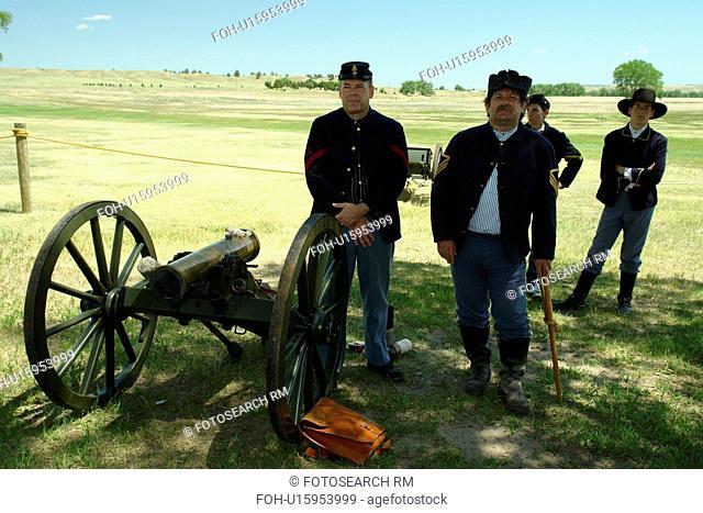 Fort Laramie, WY, Wyoming, Fort Laramie National Historic Site, re-enactment