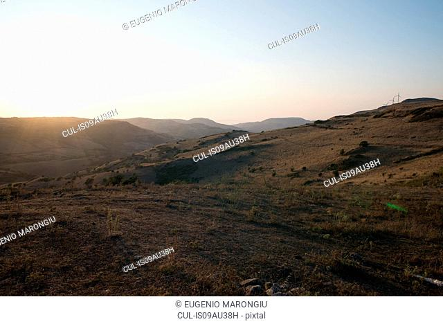 Rugged mountain landscape, Castelsardo, Sardinia, Italy