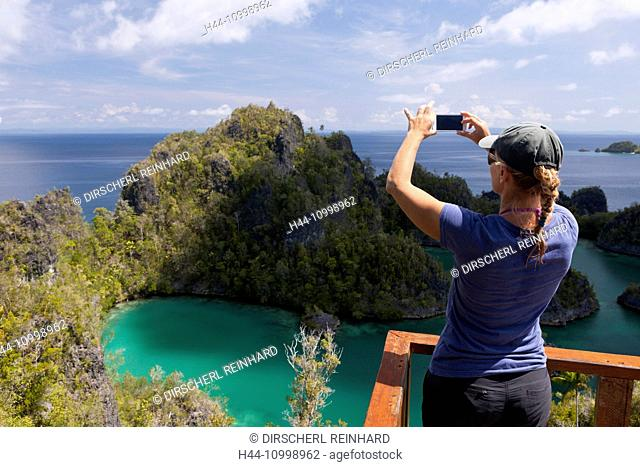 Viewpoint at Penemu Island, Fam Islands, Raja Ampat, West Papua, Indonesia