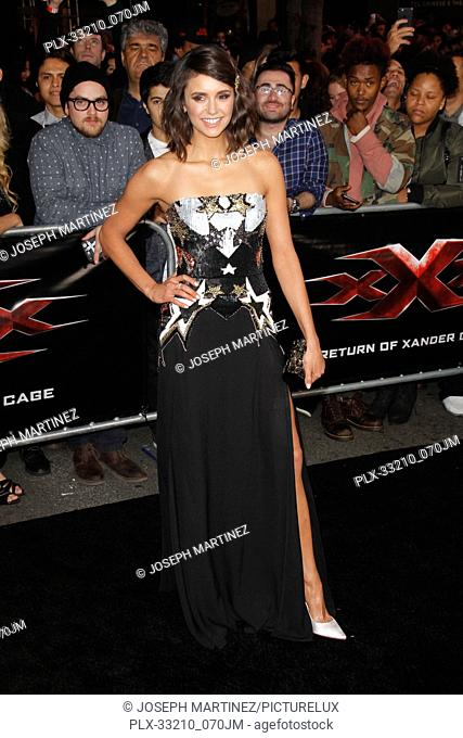 """Nina Dobrev at the Premiere of Paramount Pictures' """"""""xXx: Return Of Xander Cage"""""""" held at the TCL Chinese Theater in Hollywood, CA, January 19, 2017"""