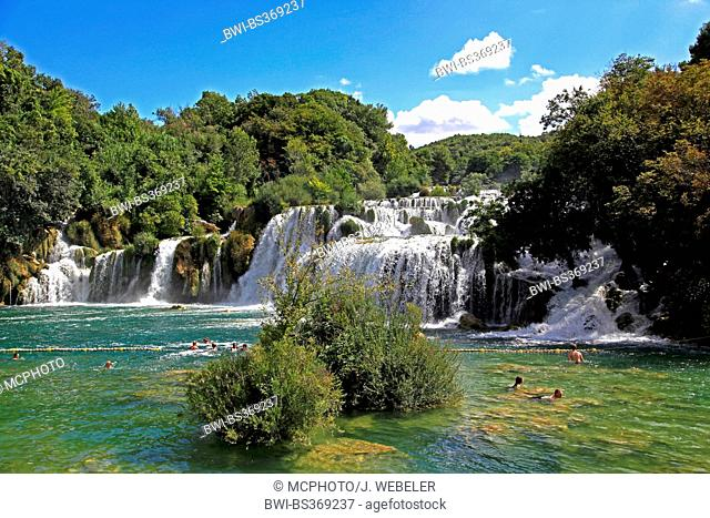 waterfalls of Skradinski buk, Croatia, Sibenik, Krka National Park