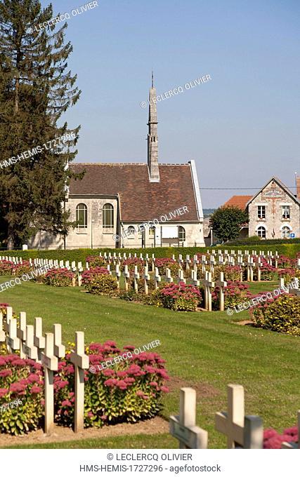 France, Aisne, Cerny en Laonnois, Chemin des Dames, memorial of the Caverne du Dragon