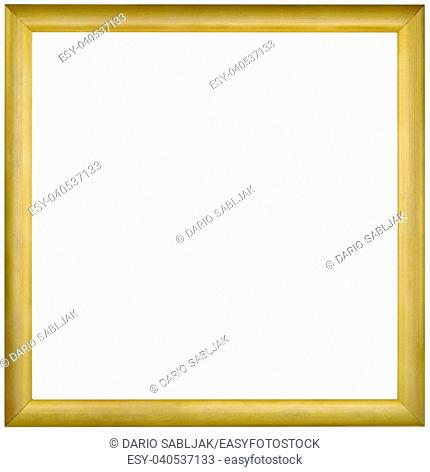 Simple Empty Golden Framework Background Cutout