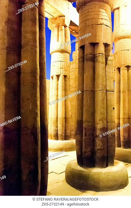 Colonnade in the temple of Luxor - Upper Egypt