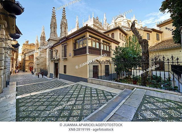 Oficios St., Granada, Andalusia, Spain, Europe