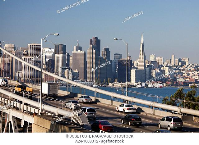 USA-California-San Francisco City-Bay Bridge-
