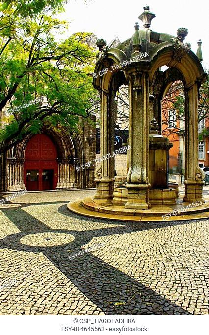 Carmo Square, Lisbon, Portugal