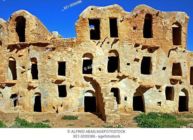 Ksar, traditional Berber architecture, Meztouria, Tunisia