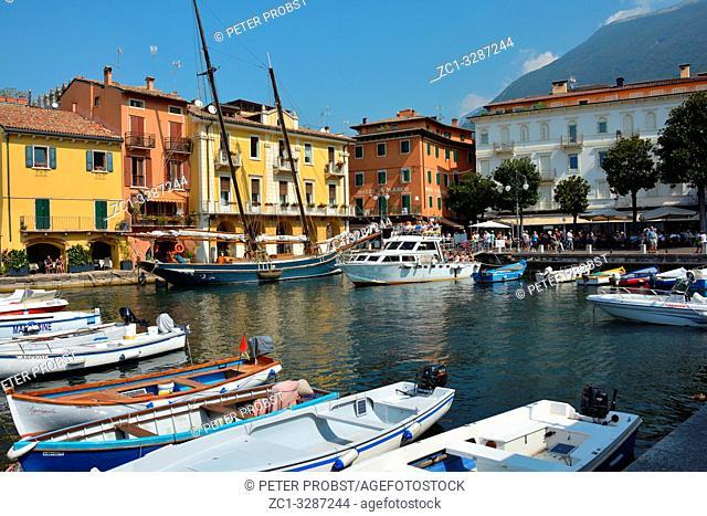 Port of Malcesine on Lake Garda - Italy