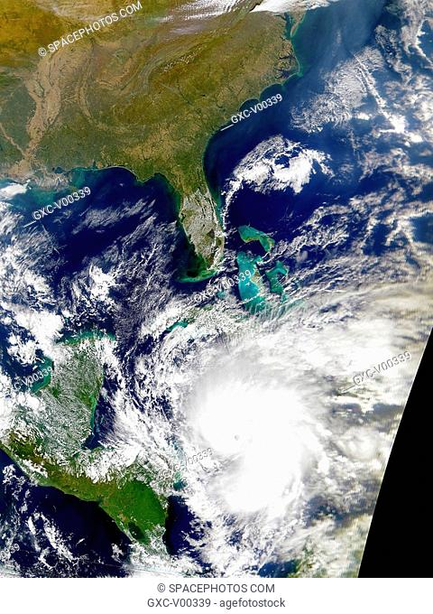 Hurricane Lenny sweeps through the Caribbean Sea in this satellite image taken above Florida