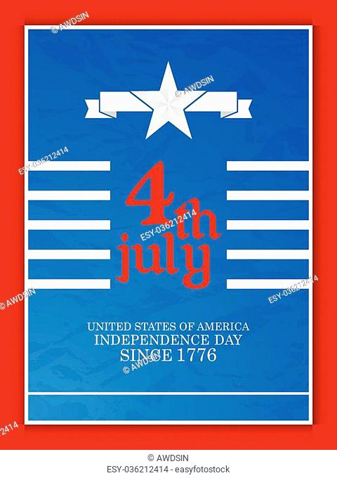 creative vector abstract for Fourth of July in a creative background