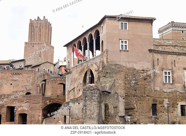 Trajan's Forum (market), Rome, Italy on February 8, 2017