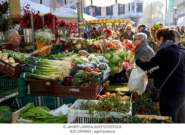 Vegetables Market, Feria de Santo Tomás, The feast of St. Thomas takes place on December 21. During this day San Sebastián is transformed into a rural market