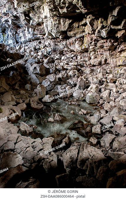 Lava tube cave, Lava Beds National Monument, California, USA