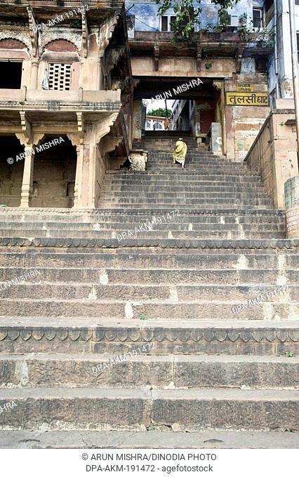 Tulsi ghat Varanasi uttar pradesh India Asia