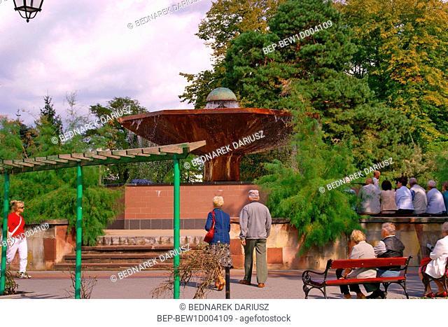Mushroom Fountain in Ciechocinek, Kuyavian-Pomeranian Voivodeship, Poland