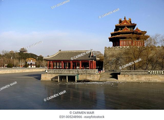 Wassergraben der Verbotenen Stadt in Peking