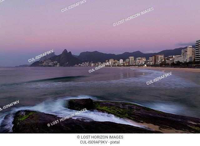 Ipanema beach at sunrise, Rio De Janeiro, Brazil