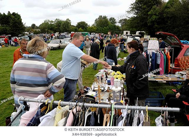 Car Boot Sale at Pennant, Ceredigion, Wales