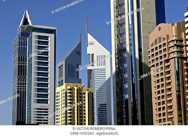 Sheikh Zayed Road in Dubai, UAE