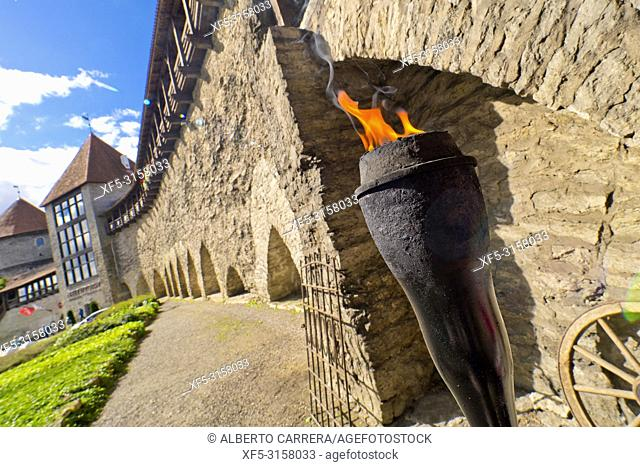 Medieval City Wall, Old Town, Tallinn, Estonia, Europe