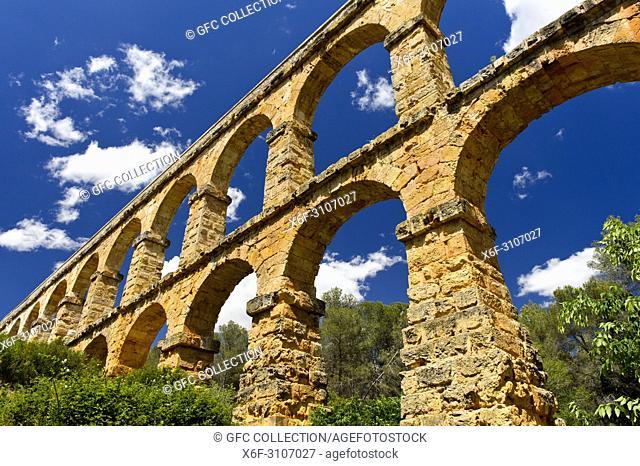 Devil's Bridge, Ferreres Aqueduct, Aqüeducte de les Ferreres, Pont del Diable, UNESCO World Heritage Site Archaeological Ensemble of Tarraco, Tarragona