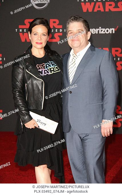 """Meredith Salenger, Patton Oswalt at the World Premiere of Lucasfilm's """"""""Star Wars: The Last Jedi"""""""" held at the Shrine Auditorium in Los Angeles, CA, December 9"""