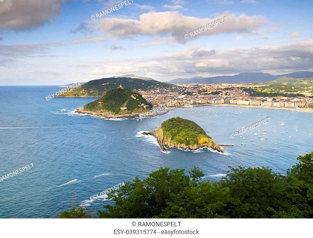 Donostia - San Sebastian view from Mont Igueldo, Basque Country, Spain