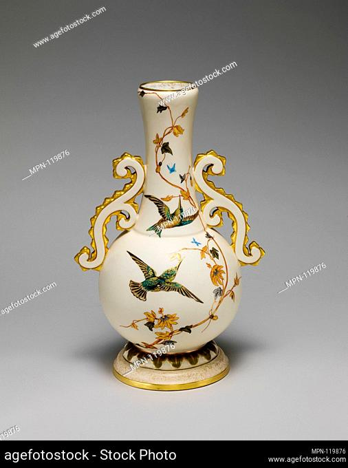 Vase. Maker: Greenwood Pottery Company (American, Trenton, New Jersey, 1861-1933); Date: ca. 1884-93; Geography: Made in Trenton, New Jersey