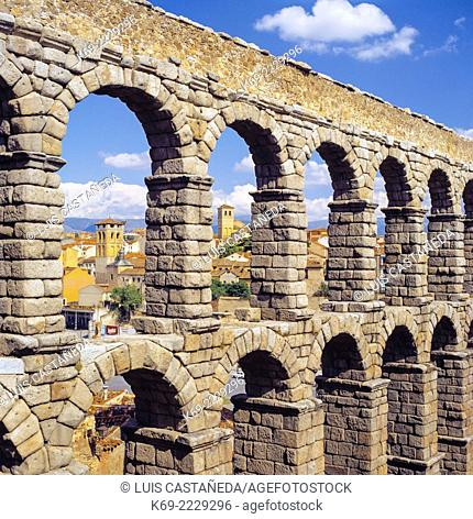 The Aqueduct of Segovia (or more precisely, the aqueduct bridge) is a Roman aqueduct and one of the most significant and best-preserved ancient monuments left...