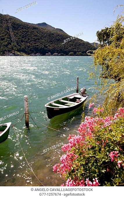 Morcote, Lake Lugano, Ticino, Switzerland