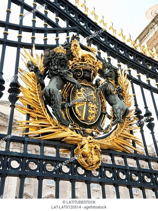 Entrance gate to The Mall,Buckingham Palace,London