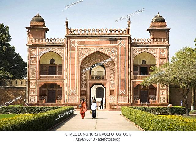 The main entrance gate to the Itimad-ud-Daulah, Agra, Uttar Pradesh, India