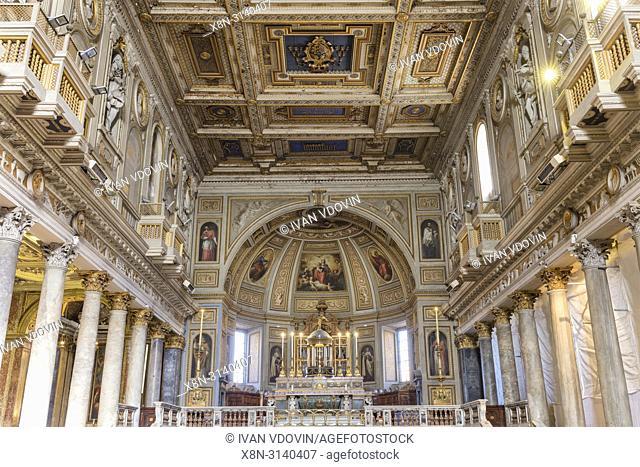 Basilica of San Martino ai Monti interior, Rome, Lazio, Italy