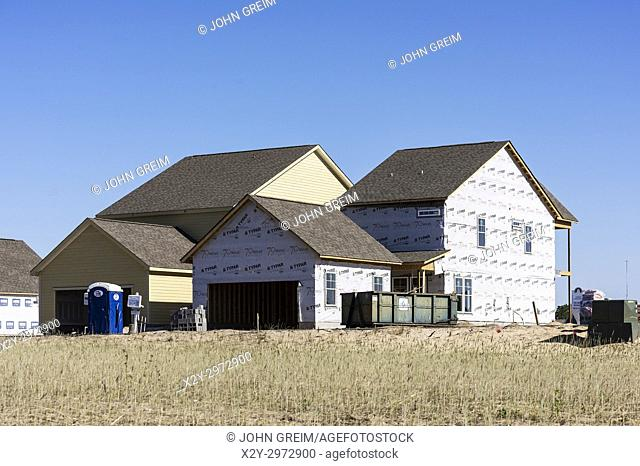 New home construction, Wilmington, North Carolina, USA