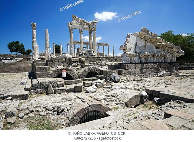 Pergamon Trajaneum. Ancient Greece. Asia Minor. Turkey