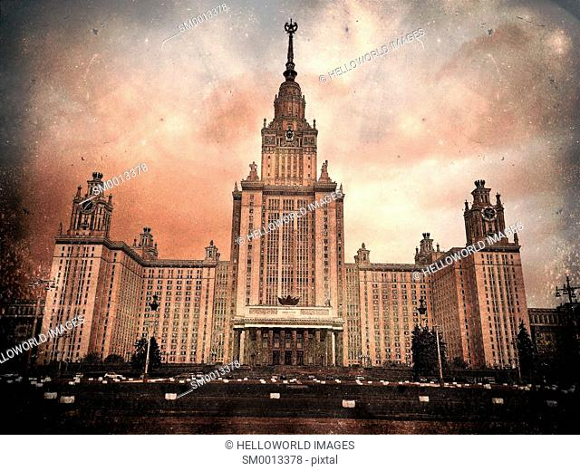 Lomonosov Moscow State University, founded in 1755, Moscow, Russia